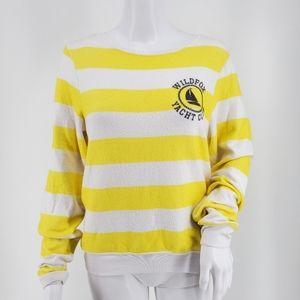 Wildfox Yacht Club BBJ Yellow & White Stripes XS